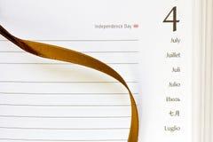 Juli 4th dagbok Arkivfoto
