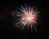 Juli 4th fyrverkeriberöm i North Carolina Fotografering för Bildbyråer