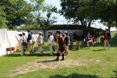 Juli 4th historisk åminnelsestrid Royaltyfri Fotografi
