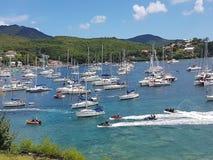30 juli 2017 - Trois Ilets - Martinique - Tour des Yoles Royalty-vrije Stock Foto