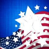 4. Juli Unabhängigkeitstaghintergrund Lizenzfreies Stockbild
