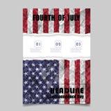 4. Juli Unabhängigkeitstaghintergrunddesign Nationaltag USA ho Stockbild