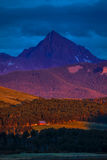 14 juli, 2016 - zonsondergang op San Juan Mountains, Colorado, de V.S. Royalty-vrije Stock Foto's