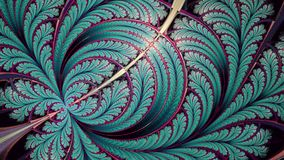 Juliańskiego fantazji fractal nieskończony piórko fotografia stock