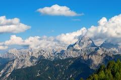 Juliańscy Alps - góra Mangart Friuli Włochy Zdjęcia Royalty Free