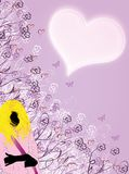 Julia. Fashion girl background  rosa Royalty Free Stock Photo
