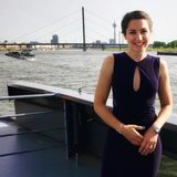 Julia Bauer - Duitse Moderator stock foto