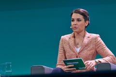 Julia Bauer - Duitse Moderator royalty-vrije stock afbeeldingen