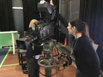 Julia Bauer - presentador alemán de la TV Imagen de archivo libre de regalías