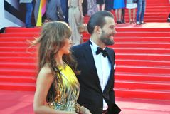 Julia Beretta and Daniil Fedorov at Moscow Film Festival Royalty Free Stock Photography