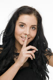 Julia finger on lips Royalty Free Stock Photo