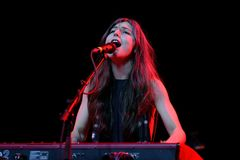 Julia Holter musician performs in concert at Primavera Sound 2016 Stock Images