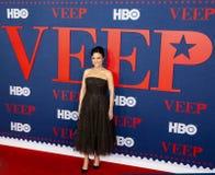 Julia Louis-Dreyfus Arrives an der Premiere der letzten Jahreszeit von Veep lizenzfreie stockfotos