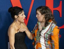 Julia Louis-Dreyfus and Lena Dunham at Premiere of Final Season of Veep