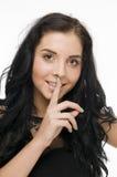 Julia palec na wargach Zdjęcie Royalty Free