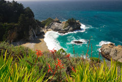 Julia Pfeiffer Burns State Park. This beautiful lagoon along the coast of California stock photo