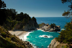 Julia Pfeiffer Burns State Park. Big Sur, California Royalty Free Stock Photo