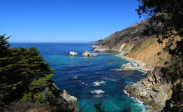 Julia Pfeiffer Burns State Park. Big Sur, California. Looking north along the dynamic Pacific coastline Stock Images
