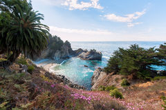 Julia Pfeiffer State Park under a blue sky Royalty Free Stock Photography