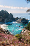 Julia Pfeiffer State Park under a blue sky Stock Photo