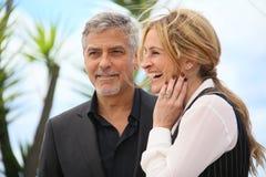 Julia Roberts, George Clooney foto de archivo libre de regalías