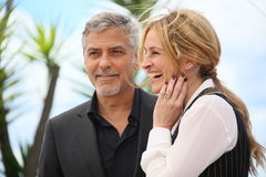 Julia Roberts, George Clooney royalty free stock photo