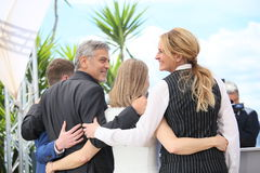 Julia Roberts, George Clooney, Jodie Foster Stock Photos