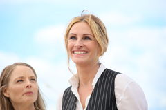 Julia Roberts, Jodie Foster. Julia Roberts attends the 'Money Monster' photocall during the 69th annual Cannes Film Festival at the Palais des Festivals on May Stock Images