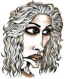 Julia Roberts-karikatuur royalty-vrije illustratie