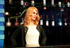 Julia Roberts. Wax statue of Julia Roberts. Wax figure in Waxworks Museum Stock Images