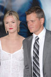 Julia Stiles,Matt Damon. Matt Damon & Julia Stiles at the world premiere of their movie The Bourne Ultimatum at the Arclight Theatre, Hollywood. July 26, 2007 Royalty Free Stock Image