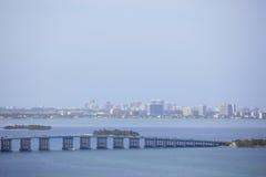 Julia Tuttle Causeway Miami Beach imagem de stock royalty free