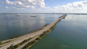 Julia Tuttle Causeway Miami FL royalty-vrije stock foto