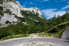 Julian Alpen in Slovenië Royalty-vrije Stock Foto's
