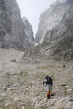 Julian alps - ascent in the swarm Royalty Free Stock Photography