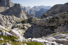 Julian alps - bower Pogacevov dom Stock Photo