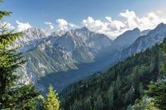 Julian Alps en el verano 2018 fotografía de archivo