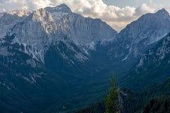 Julian Alps en el verano 2018 imagen de archivo libre de regalías