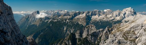 Julian Alps I., panorama Stock Photography