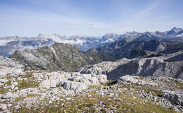 Julian alps from Krn. A view from Krn to Julian alps, back is mount Triglav stock image