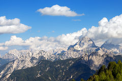 Julian Alps and Mount Mangart, Friuli Italy Stock Photos