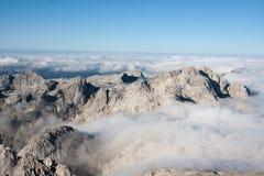 Julian Alps. Mountain Range of Julian Alps Stock Images
