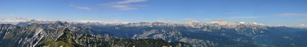 Julian Alps Panorama Royalty Free Stock Photos