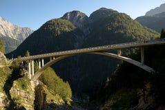 Julian Alps ,Slovenia. Bridge over creek Mangartski potok in the Julian Alps, Slovenia Stock Image