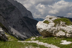 Julian Alps, Slovenia. A trekking path, Julian Alps, Slovenia Stock Photo