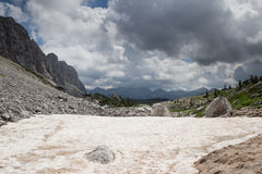 Julian Alps, Slovenia. A trekking path, Julian Alps, Slovenia Royalty Free Stock Image