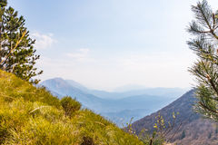 Julian Alps in Slowenia from Monte Chiampon in Italy Royalty Free Stock Photos