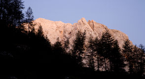Julian alps - sunset Stock Image
