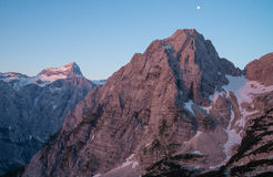 Julian Alps during sunset Stock Images
