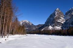 Julian Alps in valle di Saisera - Friuli Italia Immagini Stock Libere da Diritti